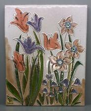 Ruscha Keramik Wandbild / Wandplatte - Handarbeit - 38 x 31 cm