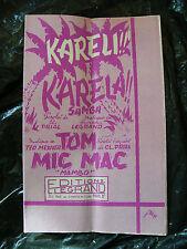 Partitur Kareli Karela Samba Legrand Tom Mic Mac Ted Mexner Mambo 1955