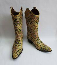 Skechers Boots Shoes Something Else Rain Rubber Western Cowboy Multi-Color Sz 7M