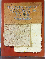 The Art & Craft of Handmade Paper, Vance Studley Paperback for Artisans
