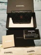 GENUINE CHANEL CAVIER LEATHER  PURSE & Box, Pouch, Ribbon, Authenticity Card
