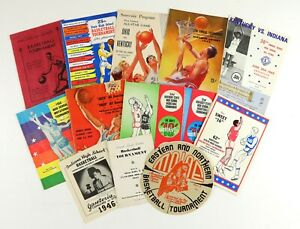 Lot of 80+ 1930-2004 Boys High School Basketball Programs