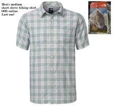 THE NORTH FACE Men's size Medium Off-the-Grid Plaid hiking shirt, Poly Nylon NWT