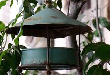 Bird Feeder w/chain & hook Vintage, Worn & Weathered look Metal Bird Buffet