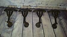 4 Vintage old  Industrial Cast Iron Casters & Bakelite Wheels Vono Coffee table