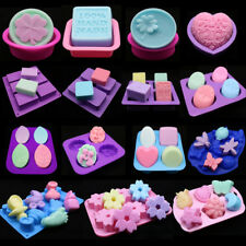 Silicone Soap Mould Cake Cookies Candle Mold Ice Cube Craft Baking Pan Tray Mold