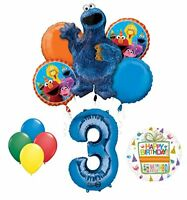 Cookie Monsters Sesame Street 3rd Birthday party supplies