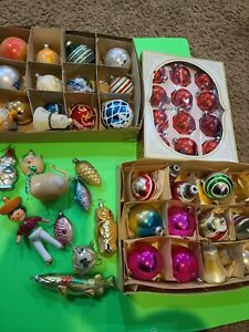 Vintage glass christmas ornaments lot