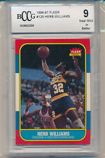 1986 Fleer Basketball Herb Williams (Rookie Card) (#125) BCCG9 BCCG