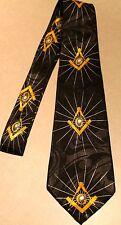 Fraternal Organization MASONIC Symbols Mason New Black Tie #2125 Free Shipping