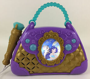 Disney Princess Aladdin Sing Along Boombox With Microphone Jasmine Music Toy