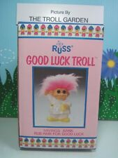 "Pink Pajamas Troll Bank - 5 1/2"" Russ Troll Doll Bank - New In Original Box"