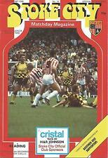 Football Programme - Stoke City v Reading - Div 2 - 19/12/1987