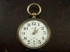 Swiss Key Wind Key Set Pocket Watch 4 Jewel Silver Case Montgomery Dial