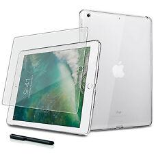9H Hartglas Folie+ Silikon Tasche Apple iPad 9.7 (2017/2018) Tablet Cover-TPU