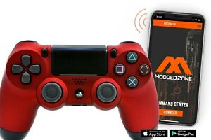 Soft Red PS4 SMART Custom Rapid Fire Modded Controller Mods for FPS games.