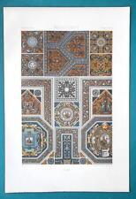 RENAISSANCE Enameled Tiles - A. RACINET Color Lithograph Print