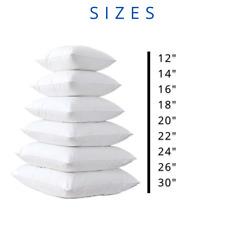 """Cushion Pad Insert Filler Inner All Sizes 12"""" 14"""" 16"""" 18"""" 20"""" 22"""" 24"""" 26"""" 30"""