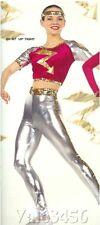 Uptight Dance Costumes Super Hero Flash Halloween Clearance Adult Medium w/Flaw