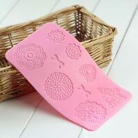 Silikon 3D Matte Spitze Lace Mold Fondant Torten Dekoration Cake_Schmetterling