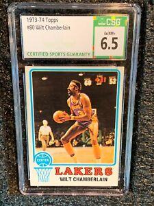 1973 Topps Basketball #135 80 Wilt Chamberlain CSG 6.5 EX/NM+