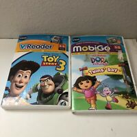Vtech Cartridges - Toy Story 3 and Dora the Explorer Twins' Day (Preowned)