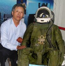 China Air Force High Altitude Fighter Pilot Flight Helmet,Green Flight Suit DC-3