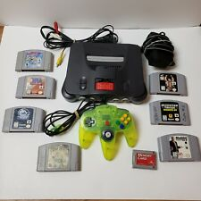 Nintendo 64 Console Bundle N64 1 green Controller 7 Games Tested memory card