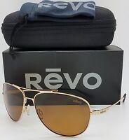 NEW Revo Windspeed sunglasses RE 3087 400 Gold Brown Polarized Aviator RE3087