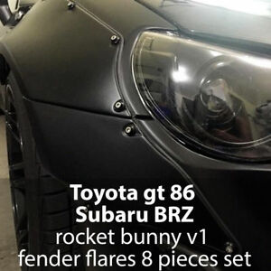 Toyota gt86 Subaru brz Scion in style RocketBunny replica(4 fender flares(8 pcs)