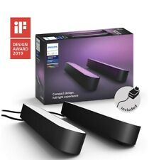 Philips Hue Play Colour & Ambience Smart LED Light Bar - Double Pack - Black