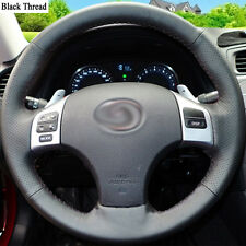 New DIY Sewing-on PU Leather Steering Wheel Cover Exact Fit For Lexus IS250