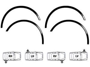 HONDA PRELUDE Bj 97-02 neu schwarz matt Radlauf Zierleisten 4 Stück Vorne Hinten