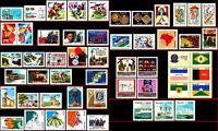 BRAZIL 1982 ALL COMMEMORATIVE STAMPS, SCOTT 1783~1839 VALUE $ 47.85, ALL MNH