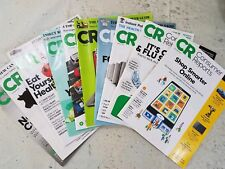 Consumer Reports Magazine Lot of 10 December 2017 Jan March May June July 2018