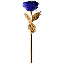 24K Gold Dipped Rose Long Stem Flower Valentine's Day Wedding Lovers Gift+Box LD
