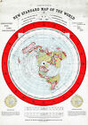 LARGE+23%22x32%22+Flat+Earth+Map+-+Gleason%27s+1892+New+Standard+of+the+World+Poster