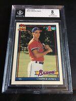 1991 Topps #333 Chipper Jones Rookie Card Atlanta Braves BGS 8 Original HOF