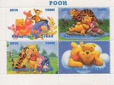 "WINNIE THE POOH DISNEY 4.5"" x 3.5"" REPUBLIQUE DE TCHAD 2014 MNH STAMP SHEETLET"