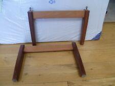 Pair of Double Table Legs (x4) Vintage Retro 27.5cm High (2) - LOOK!