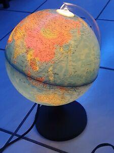 Leuchtglobus Weltglobus beleuchtet und leichtdrehend mit Schalter 220V 15 Watt