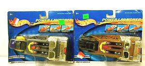 2 Hot Wheels Power Launchers 2000 Die-Cast & Plastic Mattel Racing Accessory NOC