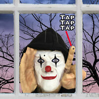 Tapping Clown Creepy Scary Peeper - Halloween Decoration - Home Decor - 1 Piece