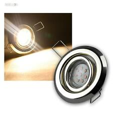 Ensemble LED laiton lampes encastrées 8-flammig pivotant,/ SMD de coloris blanc