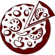 VINILO DECORATIVO  PARED COCINA COCHE FRIGO DECORACION -PIZZA-TAMAÑOS Y COLORES-