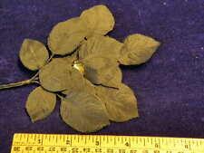 Vintage Millinery Flower Leaf Lot Silk 2 Layer Black for Hat Wedding + Hair K21