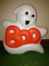 """Vintage 14"""" Halloween Grand Venture """"BOO GHOST"""" Lighted Blow Mold Decoration"""