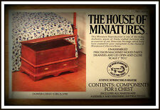 DOLLHOUSE HOUSE OF MINIATURES DOWER CHEST KIT, COLONIAL ANTIQUE REPLICA