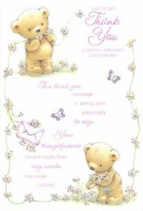 Thank You - Greeting Card - Free Postage