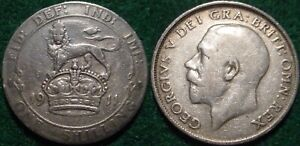 1911 STERLING SILVER 1 SHILLING GREAT BRITAIN**NICE DETAILS**